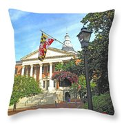 First In The Nation Throw Pillow