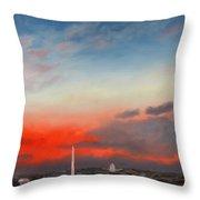 Obama Inaugural Sunrise 2 Throw Pillow
