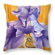 First Iris Of The Season Throw Pillow