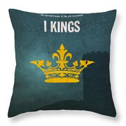 First Kings Books Of The Bible Series Old Testament Minimal Poster Art Number 11 Throw Pillow by Design Turnpike