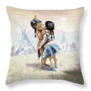 First Kiss Throw Pillow