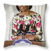 First Lady Michelle Obama Throw Pillow