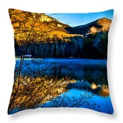 First Light At Pinnacle Lake Throw Pillow