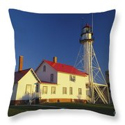 First Light At Whitefish Point Throw Pillow