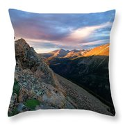 First Light On The Mountain Throw Pillow