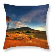 First Light On Wilpena Pound Throw Pillow