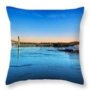 First Light Piscataqua River Throw Pillow