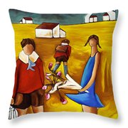 First Love Throw Pillow by William Cain