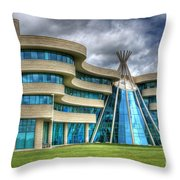 First Nations University Of Canada Throw Pillow