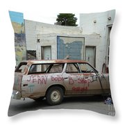 First Or Last Throw Pillow