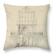 First Order Lighthouse Cape Hatteras Throw Pillow