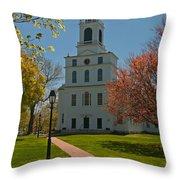 First Parish Church  Throw Pillow