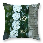 First Peter One Six To Seven White Floral  Throw Pillow