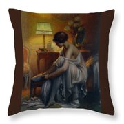First Primers Throw Pillow