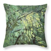 First Puzzle Of Biotop Throw Pillow