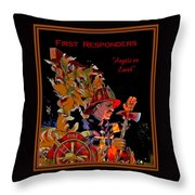 First Responders - Angels On Earth Throw Pillow