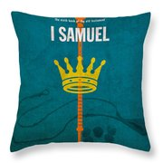 First Samuel Books Of The Bible Series Old Testament Minimal Poster Art Number 9 Throw Pillow by Design Turnpike