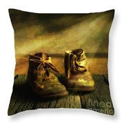 First Shoes Throw Pillow