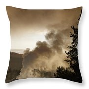 First Show Of The Day Throw Pillow