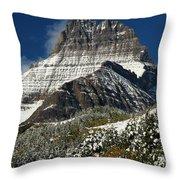 First Snow At Mount Wilbur  Throw Pillow