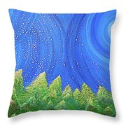 First Snow By Jrr Throw Pillow