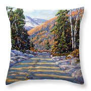 First Snow By Prankearts Throw Pillow by Richard T Pranke
