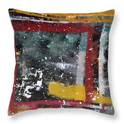 First Snowfall On The Square Throw Pillow