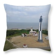 First State Landing  Lighthouse Throw Pillow