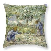 First Steps Van Gogh Throw Pillow