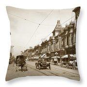 First Street Downtown San Jose California Circa 1905 Throw Pillow