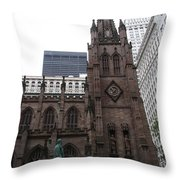 First Trinity Church Nyc Throw Pillow