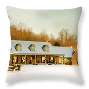 First Winter Snow Throw Pillow