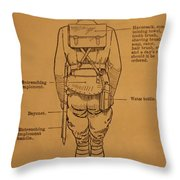 First World War Cyclist Throw Pillow