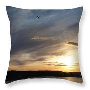 Firth Of Forth In The Sunset Throw Pillow