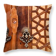 Firuz Aga Mosque Door 01 Throw Pillow