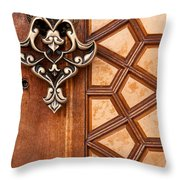 Firuz Aga Mosque Door 04 Throw Pillow