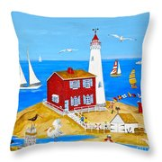 Fisgard Lighthouse Throw Pillow
