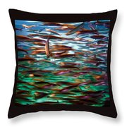 Fish 1 Throw Pillow by Dawn Eshelman