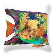Fish 503-11-13 Marucii Throw Pillow