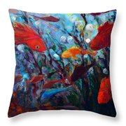 Fish Chatter Throw Pillow