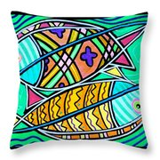 Fish Cousins Throw Pillow