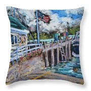Fish Creek Boat Launch Throw Pillow