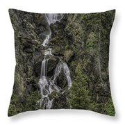 Fish Creek Falls Throw Pillow
