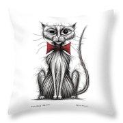 Fish Face The Cat Throw Pillow