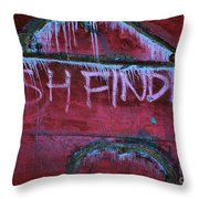 Fish Finder Throw Pillow