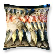 Fish For Sale In Taiwan Throw Pillow