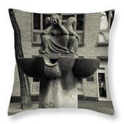 Fish Fountain Cologne Throw Pillow