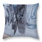 Fish Heads Throw Pillow