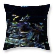 Fish In Aquarium Throw Pillow
