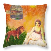 Fish In Cage Throw Pillow